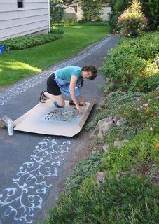 Cement stenciling - doing my entryway!