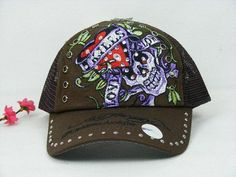 62950a34cf4 bgmXn ED Hardy Love Kills Slowly Cap in Coffee Cap Sale