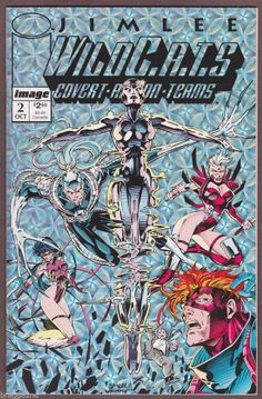 1992 Image WILDC.A.T.S #2 Comic Book JIM LEE ART Hologram Cover COVERT ACTION NM