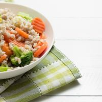 Simple Brown Rice with Mixed Vegetables