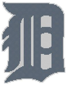 Counted Cross Stitch Pattern Detroit Tigers Logo