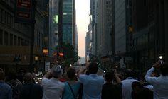 Manhattanhenge, il sole si allinea con New York