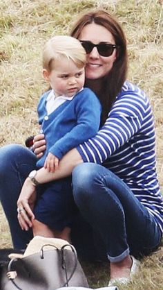 The Duchess of Cambridge and Prince George at Beaufort Polo Club | June 14, 2015