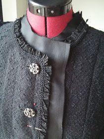 Couture et Tricot: The Classic French Jacket: Let the fun part begin! – Cardigan Alta-Costura: agora é que começa a diversão a sério! Diy Couture, Chanel Couture, Couture Details, Fashion Details, Chanel Jacket Trims, Chanel Style Jacket, Tweed, Couture Sewing Techniques, Couture Jackets