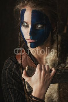 Celtic Warrior Woman with Ax~