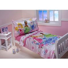 Crown Crafts Disney Princess Floral Dream Toddler Bedding Set 4 Pieces >>> You can get additional details at the image link.