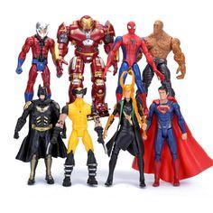 $26.99 (Buy here: https://alitems.com/g/1e8d114494ebda23ff8b16525dc3e8/?i=5&ulp=https%3A%2F%2Fwww.aliexpress.com%2Fitem%2FSuperheroes-Avengers-8pcs-set-Spiderman-Hulkbuster-Wolverine-Loki-Superman-PVC-Action-Figures-Toys-HRFG381%2F32695948994.html ) Superheroes Avengers 8pcs/set Spiderman Hulkbuster Wolverine Loki Superman PVC Action Figures Toys HRFG381 for just $26.99