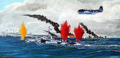 USS Raymond, de la clase John C. Butler, 1.350 t, 24 nudos, armado con dos piezas de 127 mm. Comisionado en Abril de 1944, participa en algunas misiones de escolta, misión que ejercía en Samar con los portaaviones de escolta. donde inicialmente cubre a los portaaviones con una cortina de humo, pasando más tarde al ataque torpedero contra el crucero Haguro, aunque sin éxito. Ya sin torpedos continuó la defensa de los portaaviones con sus piezas de 127 mm, consiguiendo al parecer varios…