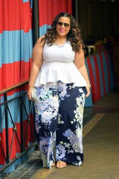 trendy spring look plus sized girls