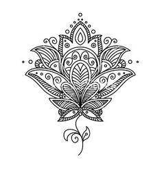 lotus flower mandala coloring pages - Google Search by lesa