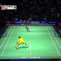 Who said BADMINTON wasn't a REAL sport?!