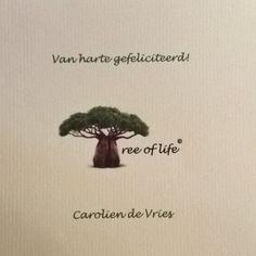 Morgen is mijn topvriendin Carolien jarig en dus geef ik haar als echt natuurmens een boom cadeau! Alvast van harte gefeliciteerd!!!