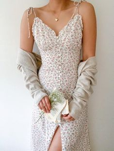 Flower Dresses, Cute Dresses, Casual Dresses, Summer Dresses, Pretty Outfits, Cute Outfits, Dress Outfits, Fashion Outfits, Effortless Chic