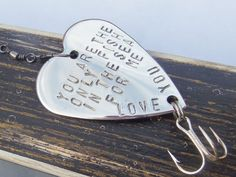 Only Fish in the Sea Cute Gift for Husband Personalized Fishing Lure for Men Handstamped Gift for Men Romantic Gift ideas for Man Guy Gifts