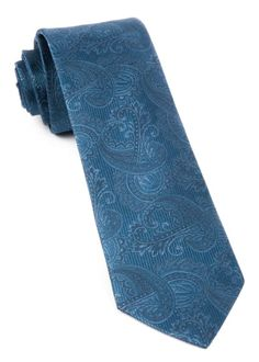 Twill Paisley Whale Blue Tie with in. wide x 58 in. Royal Blue Tie, Teal Tie, Pink Ties, Blue Ties, Traditional Jacket, Paisley Tie, Grey Vest