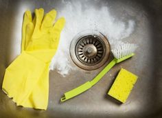 1. Freshen a Drain (and Shine a Stainless Steel Sink) Instead of using harsh chemicals that could potentially damage your pipes, unclog and refresh your drain by pouring in a ½ cup of baking soda and 1 cup of vinegar.  Always keep the ratio one-part baking soda to two parts vinegar.  Take the opportunity while surface is damp to sprinkle extra baking soda in the basin of the sink, and give it a good scrub using a scrub brush or dish sponge.  The slightly abrasive qualities of the baking soda…