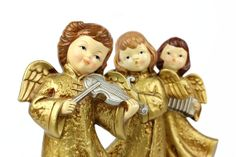 Paper Mache Angels Homco Singing Musician Set by OldVintageGoodies, $28.00
