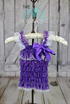 PURPLE lace petti romper, lace romper, photo prop, birthday outfit, romper with sleeves