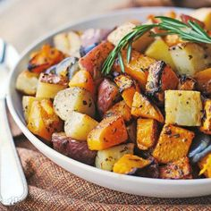 Roasted Butternut Squash, Onions, and Red Potatoes with Fresh Herbs from That's Some Good Cookin
