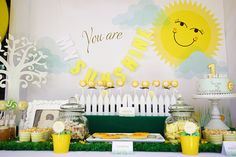 """You Are My Sunshine 1st Birthday""  This is adorable!!!!!"