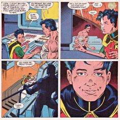 Batman's proud of his Robin<--- ok, but are we just going to ignore that hair Im Batman, Batman Comics, Dc Comics, Nightwing, Batgirl, Catwoman, Tim Drake Red Robin, Univers Dc, Batman Family