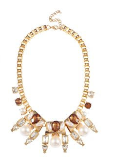 Shop Prima Donna - Indium Pearl Necklace Clear/Brown