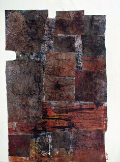 """Microwaved Coffee"" by Scott Bergey - 15 x 11 , mixed media collage on paper 2011"