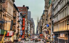 The Shopping district along Broadway in Soho, New York City.