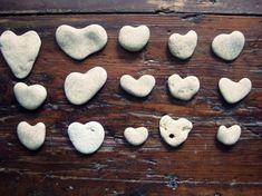 heart shaped beach stones