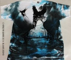 """"""" To the absolute black of your hearts...9999 """" HAND PAINTED T-SHIRT © Katarzyna Urbanek , All rights reserved"""