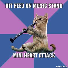 EVERY SINGLE TIME. Man...being in band as a kid was stressful. Or begging your other clarinet friend to loan you a reed. hahaha