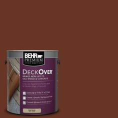 BEHR Premium DeckOver 1-gal. #SC-118 Terra Cotta Wood and Concrete Paint-500001 at The Home Depot  - The color we used on the deck