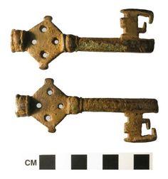 Un'immagine ridimensionata di chiave lega di rame medioevale