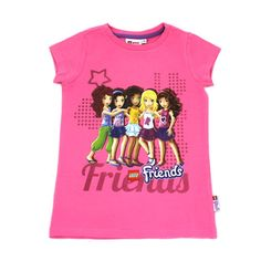 Lego Friends T Shirt | Green Pink white or Lilac | Fr 4 to 10 Years | NEW