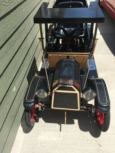 Vintage Mcdonough T 10 Tin Lizzie Go Cart Shriner Car Runs 93ms In Ebay Motors Ebay John