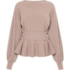 This **Agnona** Extra Fine Merino Peplum Sweater features a cuffed wrist, an accentuated waistline creating a pleated peplum, and a boat neckline. Girls Fashion Clothes, Fall Fashion Outfits, Skirt Fashion, Stylish Dresses For Girls, Stylish Dress Designs, Fashion Mode, Trendy Fashion, Moda Disney, Blouse Designs