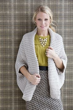 Ravelry: Crochet Ribbed Shrug pattern by Vanna White