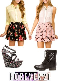 """forever 21"" by maiz-loves-johnny ❤ liked on Polyvore"