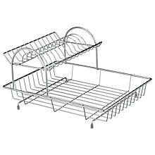 Buy John Lewis 2-Tier Dishrack, Stainless Steel Online at johnlewis.com