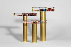 Giant Oil Kaleidoscope, Gold Brass Kaleidoscope, Gift idea, Christmas Gift idea