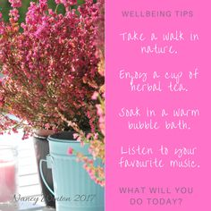 What do you do for your wellbeing?