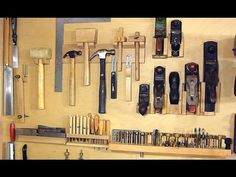 There are many options for hand tool storage. From foam cutouts and pegboards, to French cleats and tool boxes. If you want to be inspired by a one-of-a-kind wall system, then watch the video above.