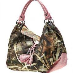 Pink Licensed Realtree Handbag Purse Tote Camo Camouflage With Tassel Handbags