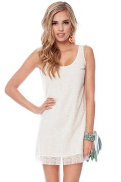 Stitch and Shift Dress in Ivory $33 at www.tobi.com