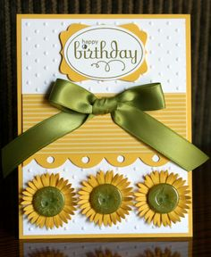 A nice Stampin' Up sample. Love the use of the buttons on this.