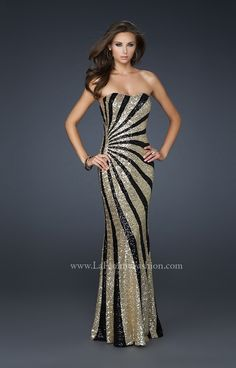 would be a fabulous dress with a little more coverage on top...maybe a bolero or shawl...sparkly/shiny of course!