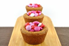 Valentines Day cookies | valentines day mm cookie cups
