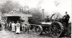 https://flic.kr/p/e8GTBS | Dymock village past times | Steam engine hay bailing, this brilliant  photo was with my great grandfather's old photos, no informtion on the back so  guessing 1920s era and maybe a farm at Dymock original photo.