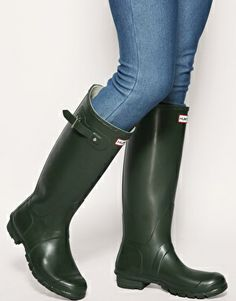 Enlarge Hunter Original Wellington Boot Dark Olive