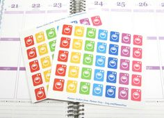 35 Laundry Day Washing Machine Planning Stickers For Your Life Planner